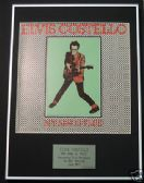 ELVIS COSTELLO - Framed LP Cover - MY AIM IS TRUE
